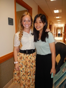 Ran into a summer missionary I served with one year ago! Where has the time gone?!